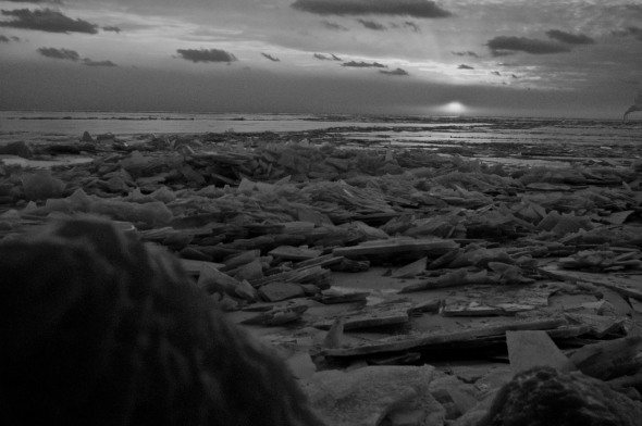 Taken at Colchester Beach, temperature -15 with Windchill.